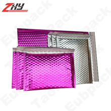self adhesive Pink Metallic Bubble Mailer