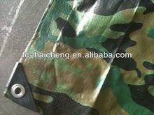waterproof 6*8ft camouflage pe tarpaulin for picnic/beach mat