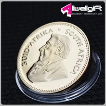 Mandela Nelson Rolihlahla Round 3D Gold Coin in Acrylic Coin Holder