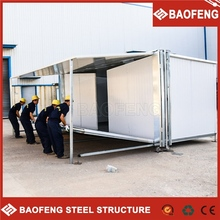 environmental protection foldable shipping container kiosk