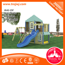 wooden playhouses for kids with slide and swing,garden woooden house