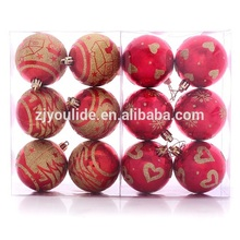 6cm de decoración de navidad bola, para imprimir el árbol de navidad bolas