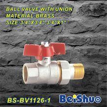 3/4 inch ball valve with union full port brass ball Valve float ball valve