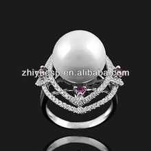 fashionable freshwater pearl ring