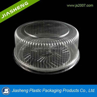 Plastic Food Packaging Round Birthday Cake Tray with Lid