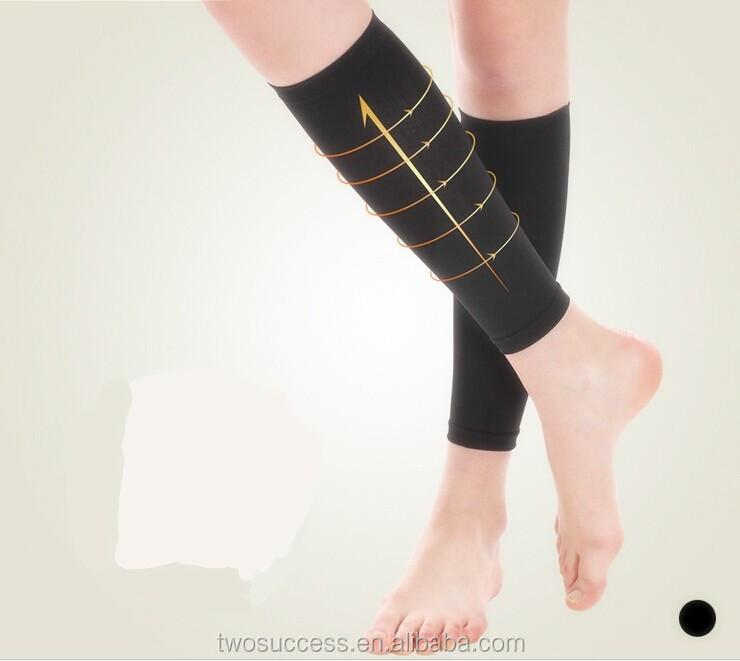 2015 Spandex Nylon compression calf sleeve leg support basketball sleeve
