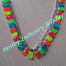 Splendid Colored Beaded Fashion Chain