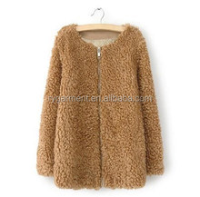 new long faux fur windbreaker sheep fur coats coats for women