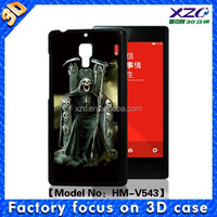 High quality wholesale 3D mobile phone case for xiaomi redmi 2 with 3D skull king with knife