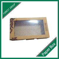 RECYCLED FOOD GRADE WITH PVC WINDOW KARFT PAPER BOX