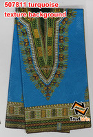 2015 new model african java wax printed fabric of 507811-turquoise in texture background