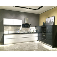 Italian kitchen cabinet manufacturers high gloss vinyl wrap
