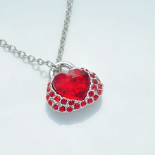 SGSPS0032 2015 fashionable light red gemstone pendant necklace 925 sterling silver jewelry wholesale