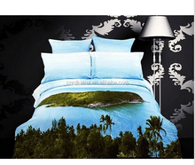 China suppier 3D Oil Painting Landscape Bedding Sets , 4PCS Reactive Printed 3D Bedding Sets