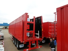 3 axle 40 feet flatbed trailer container trailer chassis 200 ton trailer truck