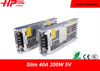 Guangzhou factory hot selling best quality constant voltage single output 40a 200w 5v ultra slim led power supply