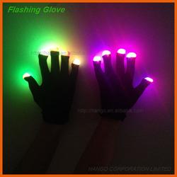 Hot sale White/Black Magic LED Light Up Flashing Gloves