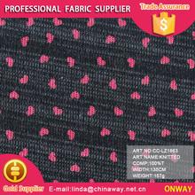 Two tone fashion love pattern cardigan wear 100 polyester knit fabric
