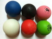 2014 rubber custom engraved logo Lacrosse Ball