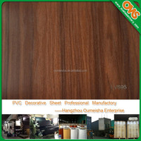 wood grain pvc decorative film sheet for door cabinet mdf