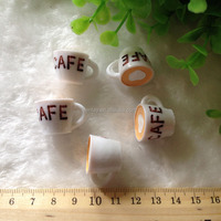 New Design 13mm 25mm Pink Cappuccino Coffee Cups Flat Back Kawaii Resin Food Cabochons
