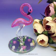 handmade glass flamingo figurines