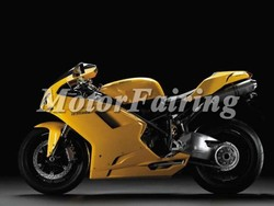 body kit for motorcycle ducati 1098 848 1198 2007 2008 2009 2010 2011 yellow