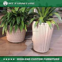decorative hotel rattan flower pot