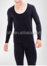 bamboo fabic durable u shape collar thermal underwear for men