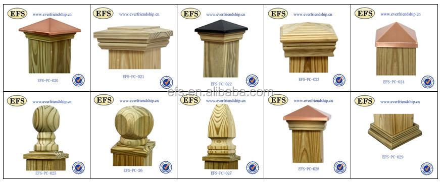 Decorative Pressure Treated Pine 4x4 Fence Post Capsefs