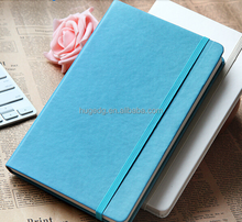 Chinese Factory custom A4/A5 leather notebook with elastic closure