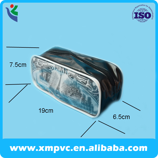2014 School plastic pvc pencil case with piping edge XYL-S009