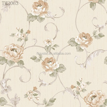 Spring Style Non woven Wallpaper with Flower Design TM2063(0.53*10m)
