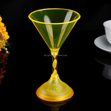 200ml Plastic Led Light Up Martini Glass With Spiral Stems