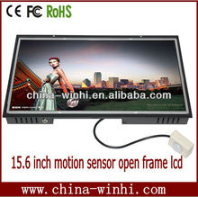 15 inch LCD with motion sensor advertising magic mirror wall mounting open frame memory card low cost tv player
