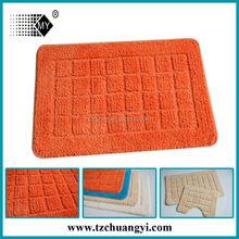 orange color high cut low loop microfiber bath mat