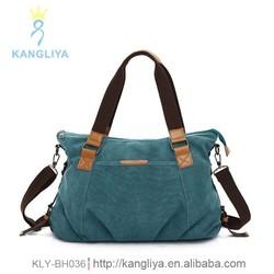 Fashion vintage canvas tote bag ladies popular bags good quality casual handbags