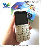 Big discount 2hite color Spanish keyboard talking voice keypad/buttons senior mobile phone/senior citzen mobile phone