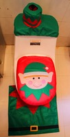 Hot selling fancy wholesale Santa Claus christmas toilet cover
