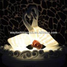 mini fantasia decoração cisne de aroma de cerâmica da lâmpada