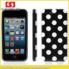 For iPhone 5 Back Cover Polka Dot Design Soft TPU Protective Case