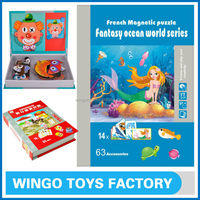 French magnetic puzzle fantasy ocean world picture puzzles