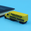 truck shape usb flash drives 2D 3D PVC usb memory stick oem