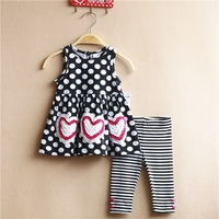 New Kids Products 2015 Baby All Black Clothing Elegant Dress Sets