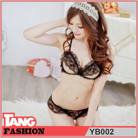 YB002 Black Lace Sexy Lingerie For Women