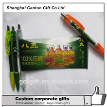 Wholesale Advertising Logo Customized Plastic Banner Pen