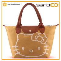 2015 free sample cheap cute tote bags with hello kitty picture