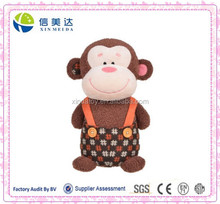 Plush Cute monkey baby soft toy with clothes