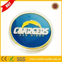 New Arrivals American San Diego Chargers Football Challenge Coin, 24K Gold Plated NFL Sports Coin
