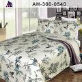 elegante 3d flor impresa tela textil de ropa de cama edredón cubre